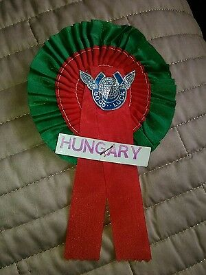 HUNGARY FOOTBALL TEAM ROSETTE LATE 60's EARLY 70's NR MINT CONDITION