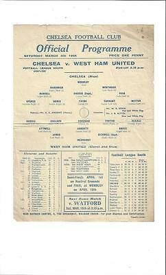 Chelsea v West Ham United League Cup South Football Programme 1943/44