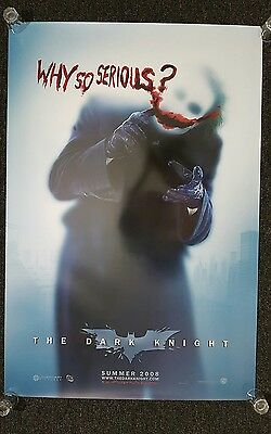 The Dark knight double sided version 2 poster us one sheet genuine original