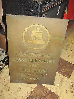 Bronze Bell System Southern Bell Telephone And Telegraph Company Building Plaque
