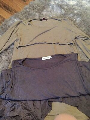 2 Breastfeeding Nursing Tops XXL Size 16