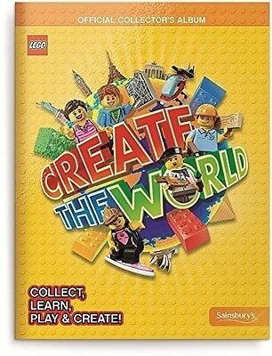 BRAND NEW Sainsbury's Lego Create The World Trading Cards Book Collector Album