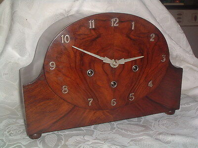 SUPERB 1930's ART DECO Westminster Chime MANTEL CLOCK Perfect working order