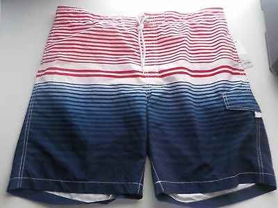32caf09bab Men's Size Xxl Sonoma Brand Red, White & Blue Stripe Swimwear Shorts New  #1576