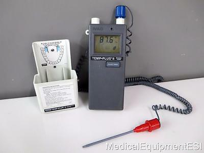Ivac Temp Thermometer Plus II 2080 Measurement System 2085D Oral Rectal Probe