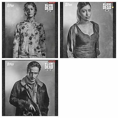 Topps The Walking Dead Card Trader Portraits Red Set With Awards