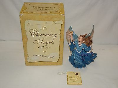 Charming Angels By Boyds Aurora Guardian of Dreams Figurine With Box COA & Charm