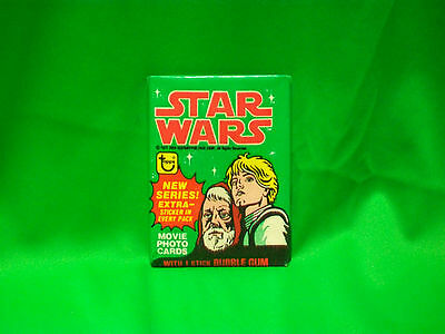 "1977 TOPPS 4st SERIES "" STAR WARS "" WAX PACK UNOPENED AUTHENTIC ORIGINAL RARE"