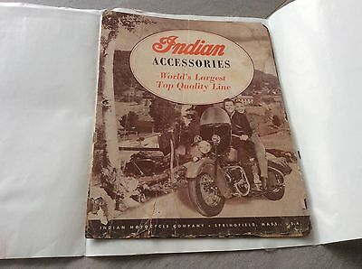 😃 Vintage Indian Motocycle Springfield Mass. Accessories Top Line Catalog 1948