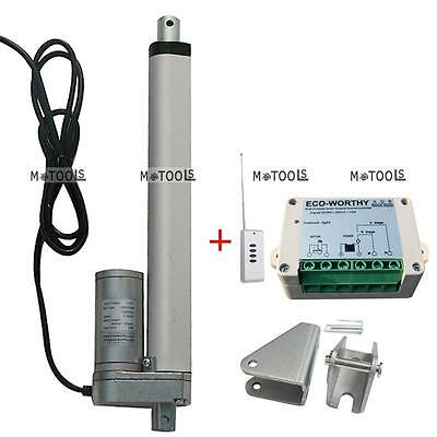 """6"""" 150mm 12V Linear Actuator Motor with Remote Control,Bracket DIY for Car,Boat"""