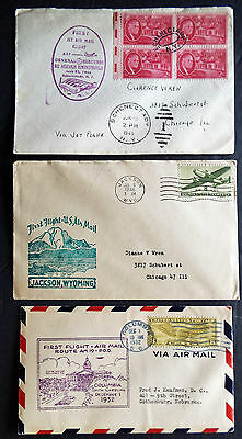 Us 3 First Flight Covers