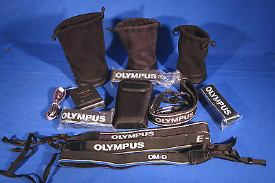 LOT of Various Olympus Lens and Soft Cases, Straps Etc. #L171EW