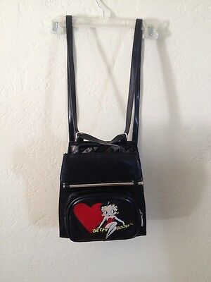 RARE  Betty Boop Embroidered Back Pack Purse