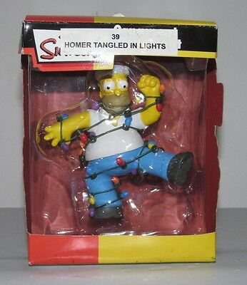 2008 The Simpsons HOMER Tangled In Lights Christmas Ornament NIB NEW