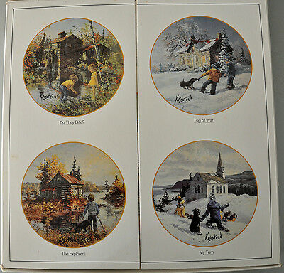 Set of 4 Hutschenreuther Porcelain Display Plates by Keirstead - German made