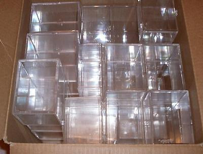 Lot of 24 Plastic Boxes Holders Containers Trading Cards (21) & 3 Large