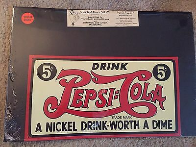 Vintage 1995 Pepsi Cola Metal Sign Reproduction New