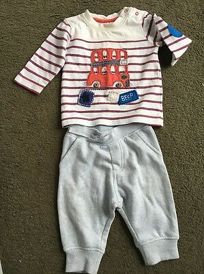 Baby Boys Size 000 Next Long Sleeve Top & Pants Outfit