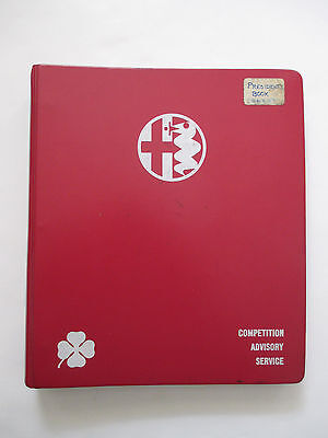 "ALFA ROMEO Owners' Club ""Competition Advisory Service"" Binder / Manual 1971"