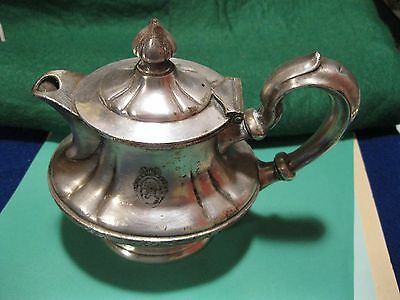 Old vintage 1920-40s St Regis Hotel  10 oz. teapot silver plate NYC,SF,Wash DC ?