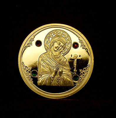 ICON OF THE SAINTS:  Our Lady , , Belarus 50 rubels, 2008, gilded