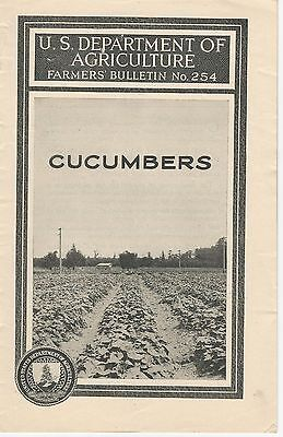 US Department of Agriculture, Farmers' Bulletin No. 254  Cucumbers - 1924