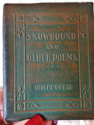 Snowbound & Other Poems, John Greenleaf Whittier, Little Leather Library, 1920