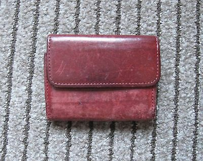 Authentic Vintage COACH Small Trifold Brown Leather Wallet