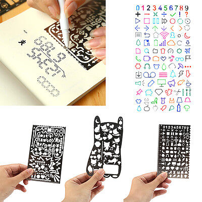 Stainless Steel Hollow Drawing Ruler Planner Stencils Painting Scale Template BD