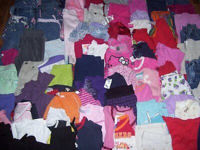 HUGE Girls 87 PC Lot Size 6/6X Jeans Tops Dresses Shorts Carters Old Navy Sonoma