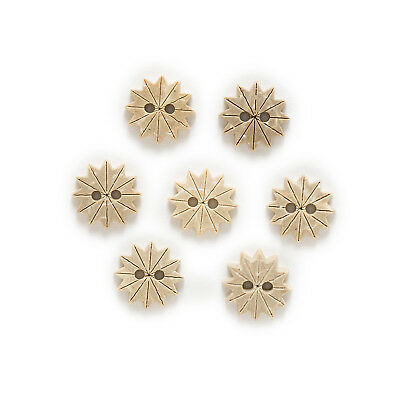 30pcs Coconut Buttons Star Gift Sewing Scrapbooking Decor Handwork 12mm