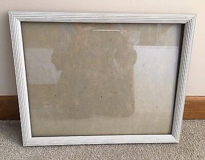 Wooden Picture Frame With Glass. 15x12 Frame. White.