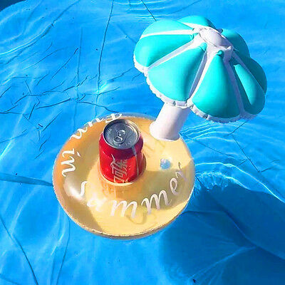 Inflatable Mushroom Cup Holder Floating Party Beverage Boats Phone Stand Holder