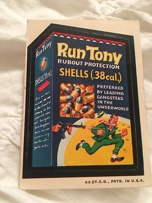 1973 Wacky Packages 2nd Series Run Tony White Back