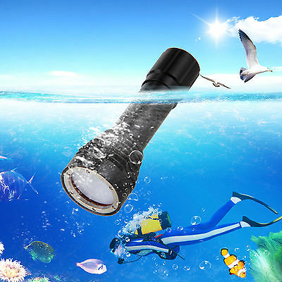 6000LM XM-L2 Scuba Diving Photography Underwater 120M Video LED Flashlight Lamp