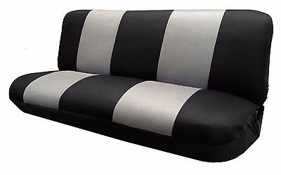 Mesh Black/Gray FULL SIZE BENCH Seat Cover  Fits Most Vintage Classic cars