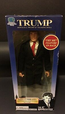 "Donald Trump 12"" Collectible Talking Doll - From Original Apprentice Series"