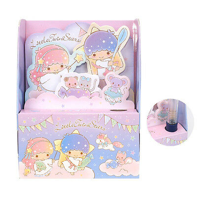 Sanrio Little Twin Stars Memo Pad 5 style Set W/ Case Registered Shipping