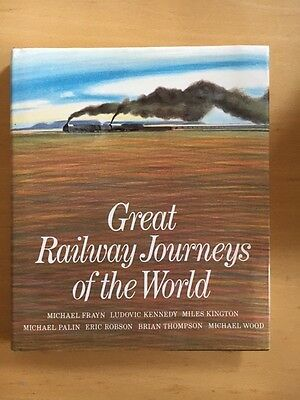 Great Railway Journeys Of The World (1982) Hard Cover Vgc
