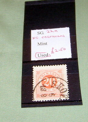 SWEDEN STAMPS, SG 22a [NO POSTHORN], FINE USED, STATED TO CATALOGUE £2.50.