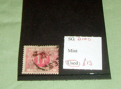 Belgium Stamp, Sg D100, Used, Stated To Catalogue £13.