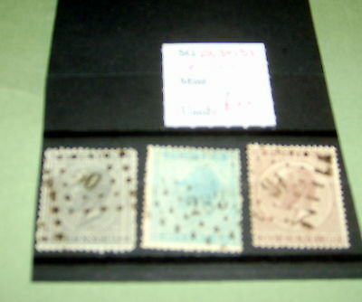 Belgium Stamps,  Sg 29, 30, 31, Fine Used, Stated To Catalogue £22.