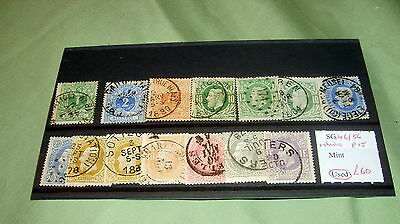 Belgium Stamps Set,  Sg 46-56 [+ Shades], 14 Fine Used Stamps, Stc £60.