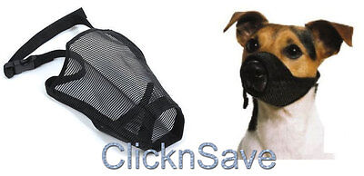 New Pet Touch Dog Safety Adjustable Muzzle Biting Barking Chewing S M L XL