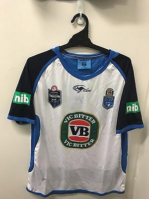 NSW Blues State Of Origin Players White Training T Shirt Size S-XL! 4