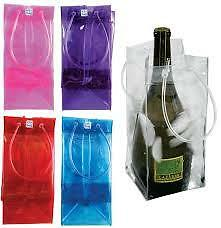 Ice Bag Wine Cooler pack of 6 clear bags