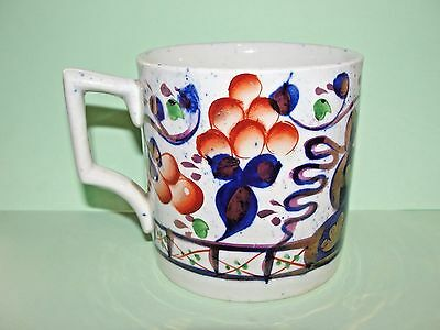 Antique.gaudy Welsh.oyster.mug.tankard.cup.pottery