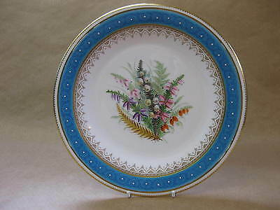 Antique Worcester Porcelain Plate ~ 19th Century ~ Hand Painted Flowers ~ 9 Inch