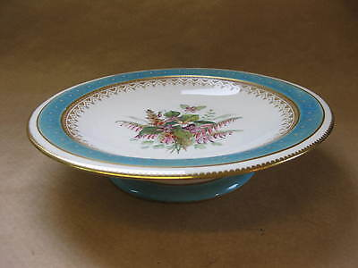 Antique Worcester Porcelain Low Tazza ~ 19th Century ~ Hand Painted Flowers
