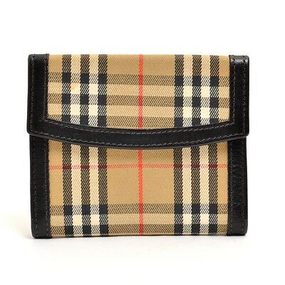 Authentic BURBERRY canvas Check pattern Card Case